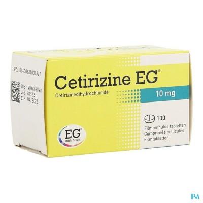 CETIRIZINE EG COMP 100 X 10 MG