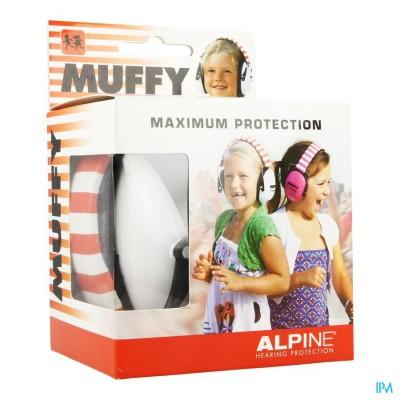 ALPINE MUFFY KOPTELEFOON KIDS WIT/ROOD