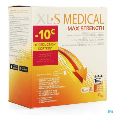 XLS MED. MAX STRENGTH COMP 120 PROMO -10?