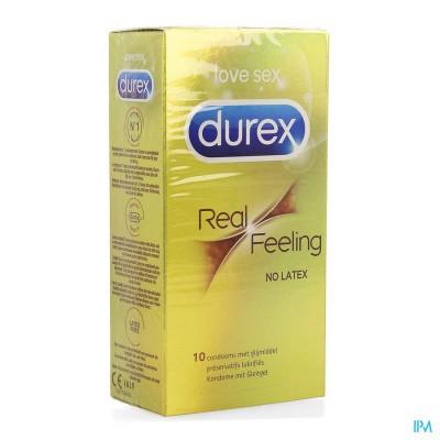 DUREX REAL FEELING LATEX FREE CONDOMS 10